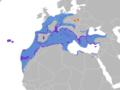 Larus michahellis map.png