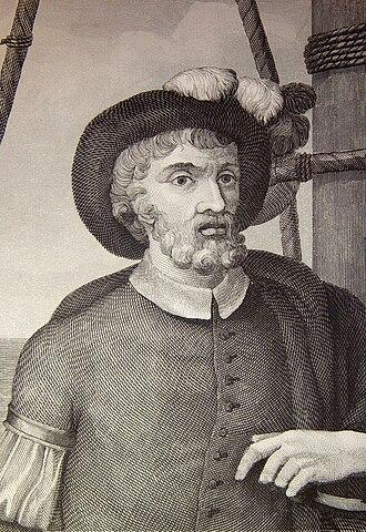 Juan Sebastián Elcano - Engraving of Elcano