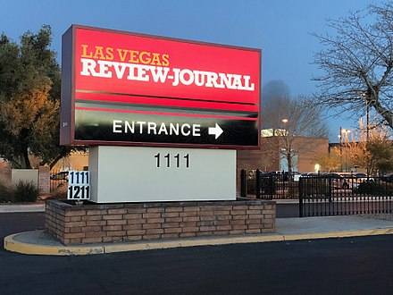 Las Vegas Review-Journal sign.