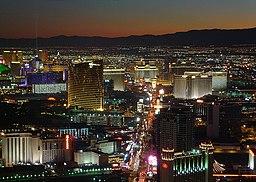 Las Vegas bysilhuet.