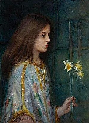 Laura Muntz Lyall - Image: Laura Muntz Lyall – Young Girl Holding Daffodils