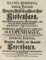 Laurids de Thurah - Hafnina Hodierna - Title Page.png