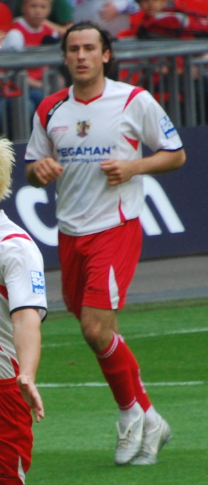 Lawrie Wilson - Wilson playing for Stevenage Borough in the 2009 FA Trophy Final