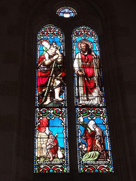 Le Barp (Gironde) église, vitrail 01