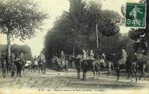 La Chasse (Gleizes) - Departure for the hunt (Le départ à la chasse); postcard