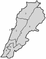Lebanon governorates numbered geo.svg