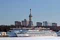 Lenin and Nizhniy Novgorod in Winter at Moscow North River Terminal 10-feb-2015.jpg