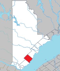 Posizione all'interno di La Haute-Côte-Nord RCM.