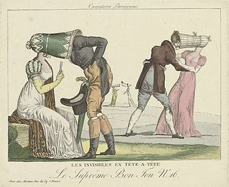 Poke bonnet - Late 1810s French cartoon lampooning the poke bonnet