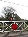 Level crossing at Thuxton station - geograph.org.uk - 671900.jpg
