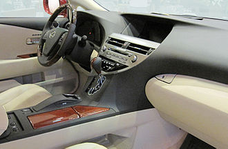 Safety Connect - Interior of Lexus RX, fitted with Lexus Enform with Safety Connect
