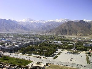 Lhasa vom Potala-Palast