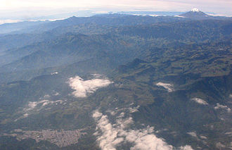 Líbano, Tolima - Aerial view of Líbano with Nevado del Tolima in the background.