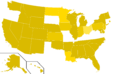 Libertarian Party presidential election results, 1984, ordinal (United States of America).png