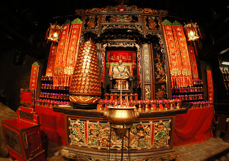 File:Lin Fa Temple, Statue of the Goddess of Mercy, Tai Hang (Hong Kong).jpg