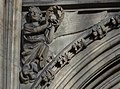 Lincoln Cathedral, Angel holding a wreath in both hands. (31452307983).jpg