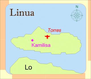 Linua island in Vanuatu