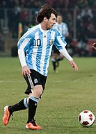 Lionel Messi – Portugal vs. Argentina, 9th February 2011.jpg