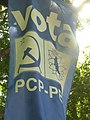 Lisbon, street scenes from the capital of Portugal. Banner of the Communist party and the Greens.jpg
