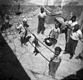 Lisico nesejo na kuci in prosijo za dar okoli gospodinj, Bauci 1950.jpg