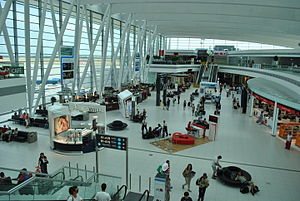 Transport in Hungary - Budapest Liszt Ferenc International Airport inside of SkyCourt