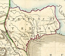 Map Of Texas 1836.Republic Of Texas Wikipedia