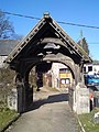 Llanrhaeadr, St. Dyfnog's Lych-gate - geograph.org.uk - 1749614.jpg