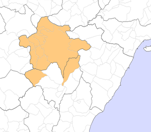 Ports de Morella - Image: Localització dels Ports de Morella