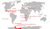 Locations of British overseas territories and Crown dependencies