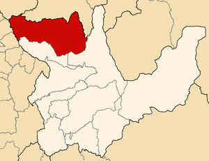 Marañón Province - Image: Location of the province Marañón in Huánuco
