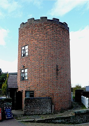 Gailey, Staffordshire - Image: Lock keeper's tower at Gailey, Staffordshire geograph.org.uk 1577107