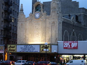 Loew's Jersey Theatre - The Loew's Jersey Theatre at Journal Square in 2006