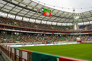 Russian Premier League - Russian Premier League match between Lokomotiv and Spartak at the Lokomotiv Stadium