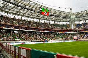 Russian Premier League - Russian Premier League match between Lokomotiv and Spartak at the Lokomotiv Stadium