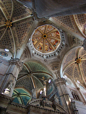 Certosa di Pavia - The interior of the church.