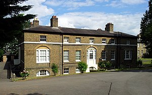 Royal Artillery Barracks - Part of Connaught Mews, built as the Royal Artillery Hospital (central block 1780, wings 1801)