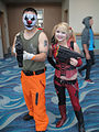Long Beach Comic Expo 2012 - Arkham Asylum inmate and Harley Quinn (7186647532).jpg