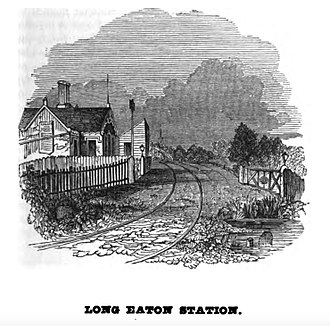 Long Eaton railway station - The station as illustrated in the Midland Counties Railway Companion of 1840
