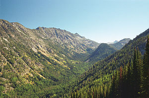 Wallowa Mountains - The valley of the Lostine River in the mountains