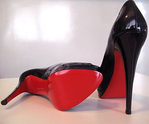 Christian Louboutin - An example of Louboutin's signature red-bottoms