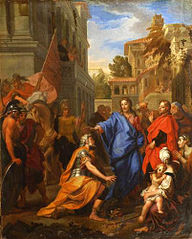 Le Centurion aux pieds du Christ