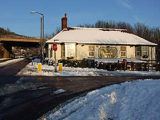 A229 road - The Lower Bell pub at Blue Bell Hill on the pre-bypass A229; where the phantom hitch-hiker has been reported