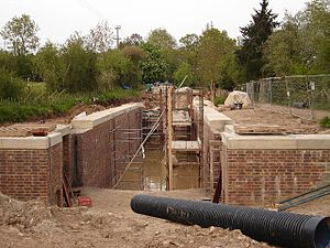 Wey and Arun Canal - The new Loxwood Lock, under construction, in May 2006