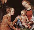 Lucas Cranach d. Ä. - The Mystic Marriage of St Catherine (detail) - WGA05663.jpg