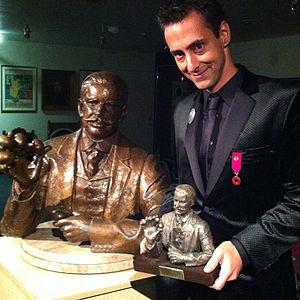 """Luís de Matos -  (""""The Devant Award"""") Luis de Matos at The Magic Circle Awards in October 2013."""