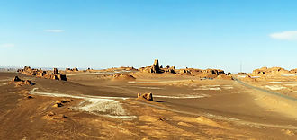 Dasht-e Lut - Yardangs in Lut Desert, Kerman Province, Iran.