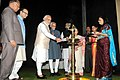 M. Hamid Ansari, the Prime Minister, Shri Narendra Modi, the Speaker, Lok Sabha, Smt. Sumitra Mahajan, the Union Minister for Finance, Corporate Affairs and Information & Broadcasting.jpg