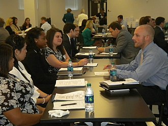 University of Mississippi School of Business Administration - MBA Alumni Board members host professional development workshops for MBA students.