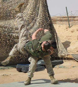 Marine Corps Martial Arts Program - Marines practice throws.