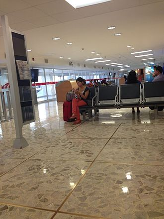 Acapulco International Airport - Waiting room at Acapulco airport.